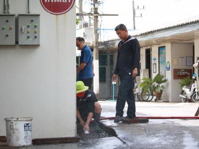 กิจกรรม 5 ส. และล้างท่อระบายน้ำ