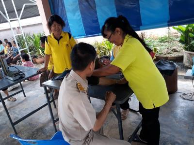 ออกหน่วยฉีดวัคซีนไข้หวัดใหญ่ รพสต.หัวฝาย